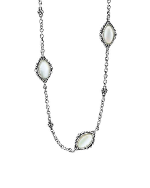 Lagos Contessa Long Mother-of-pearl Station Necklace in