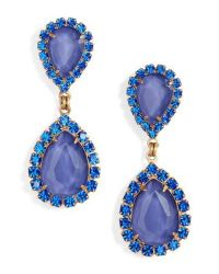 Loren hope Abba Crystal Drop Earrings in Blue | Lyst
