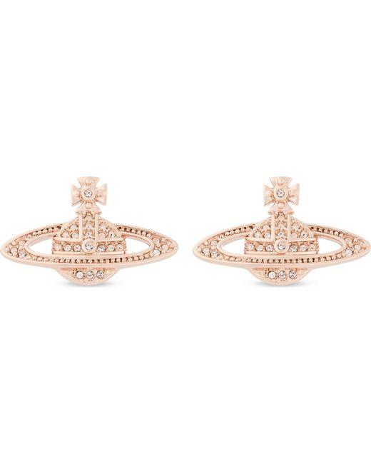 Vivienne Westwood Mini Bas Relief Diamante Orb Earrings In Black Lyst