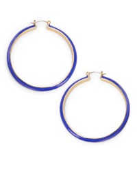 Trina turk Multi-colored Hoop Earrings in Blue | Lyst