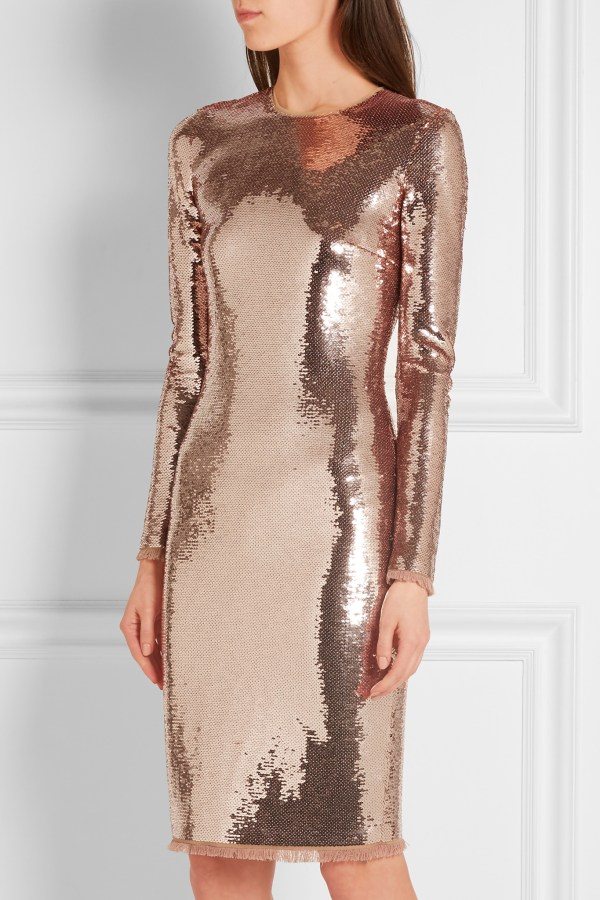 Tom Ford Rose Gold Sequin Dress