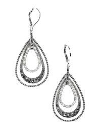 Judith jack Sterling Silver And Crystal Layered Drop ...