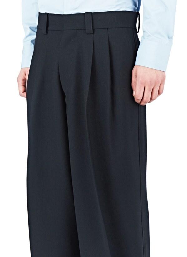 Wool Men Wide Legs Pants