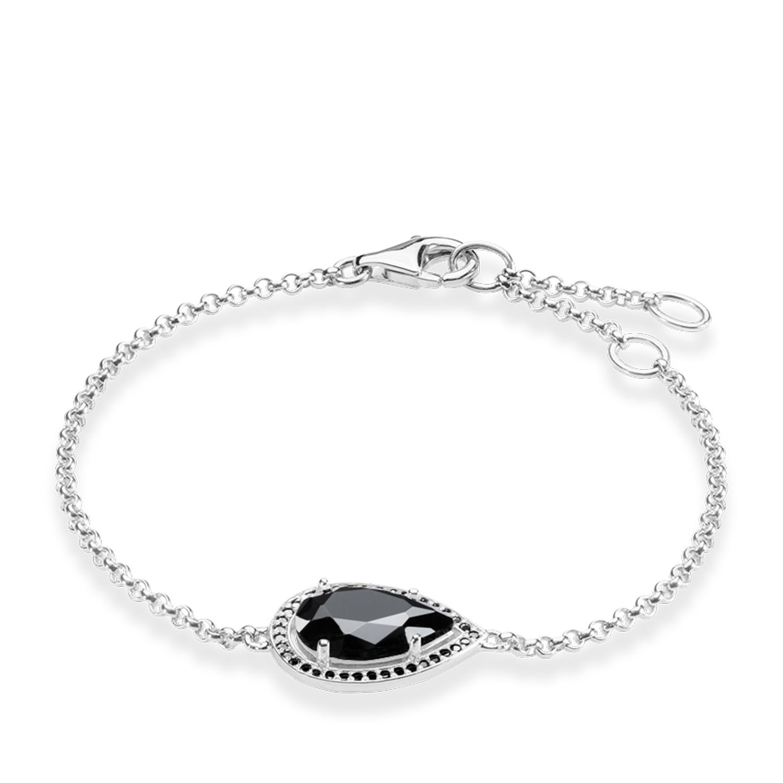 Thomas Sabo Maharani Black Onyx Drop Bracelet in Metallic