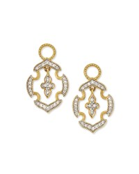 Lyst - Jude Frances 18k Gold Malta Diamond Earring Charms ...