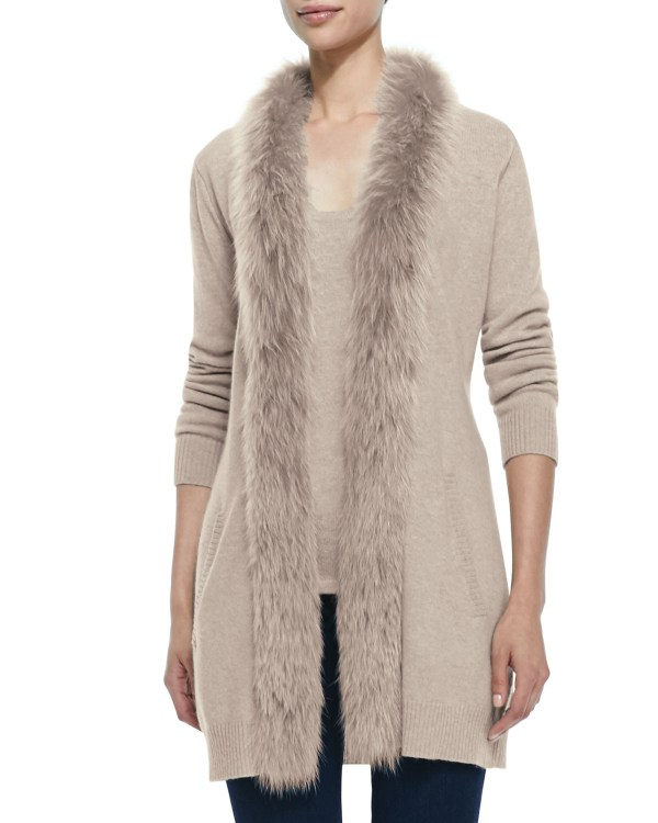Cashmere with Fur Trimmed Sweaters