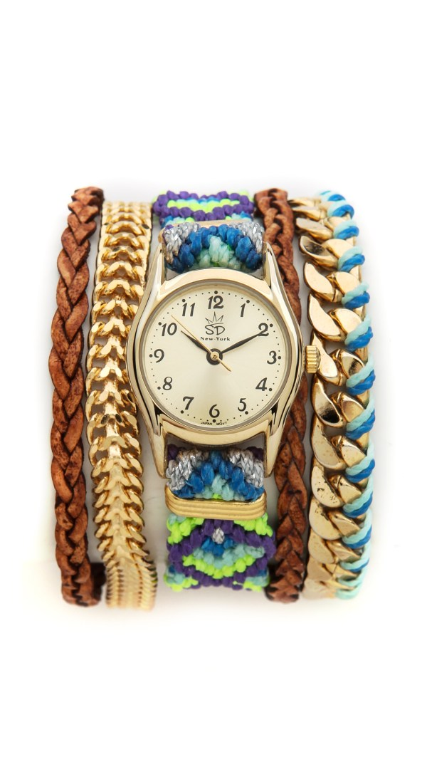 Lyst - Sara Design Bright Woven Magenetic Watch In Blue