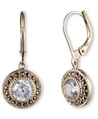 Lyst - Judith jack Marcasite Drop Earrings in Metallic