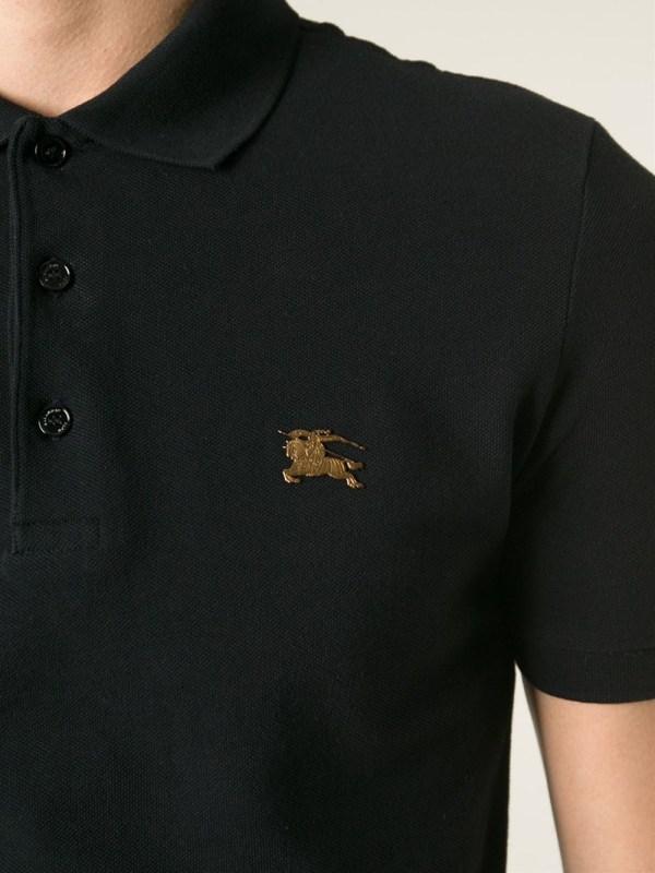 365ba079 Burberry Black Polo Shirt Men - Year of Clean Water