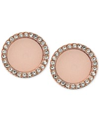 Lyst - Michael Kors Rose Gold-tone Disc Stud Earrings in Pink