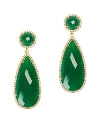Lyst - Susan Hanover Emerald Drop Earrings in Metallic