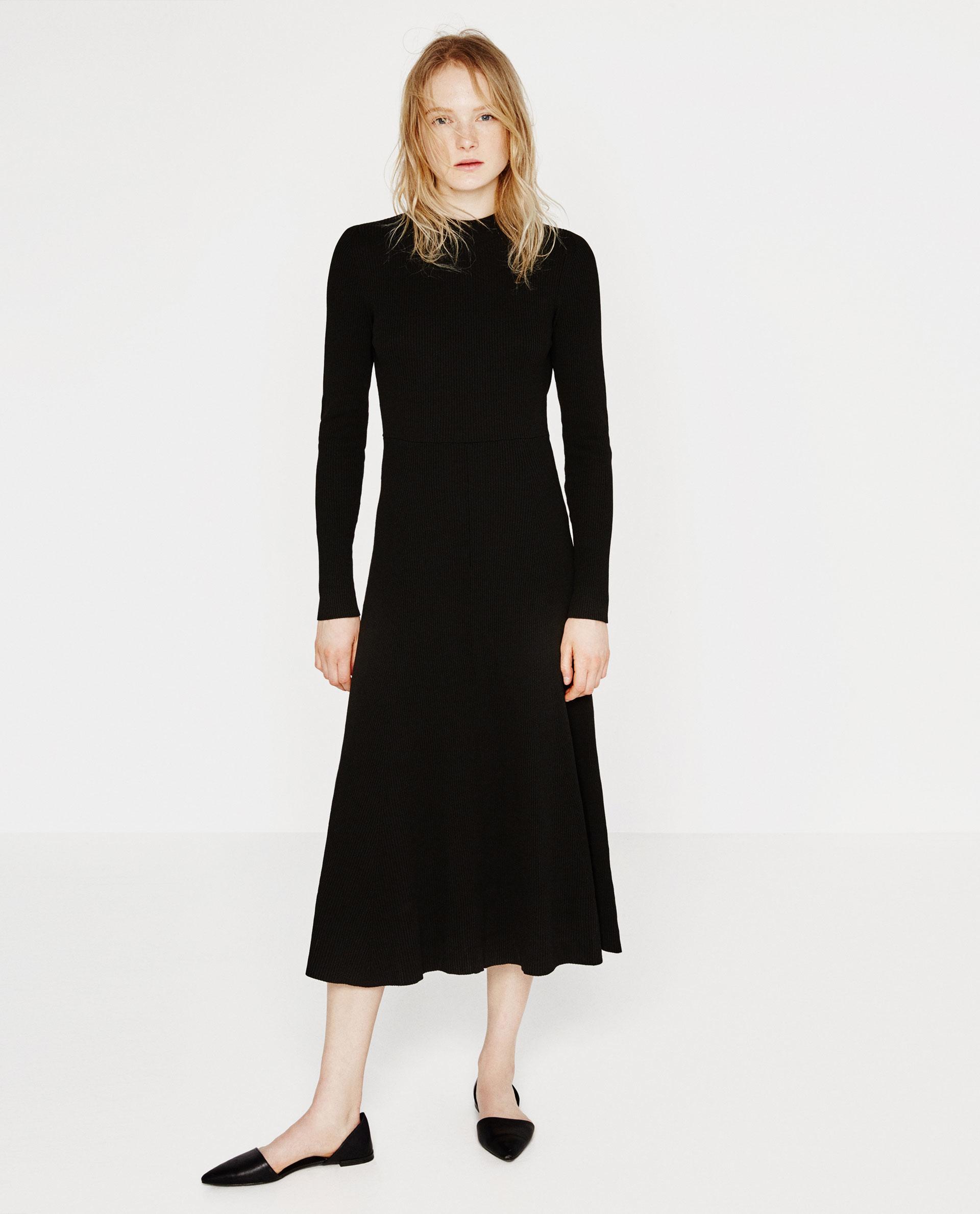 Zara Lowcut Back Dress in Black  Lyst