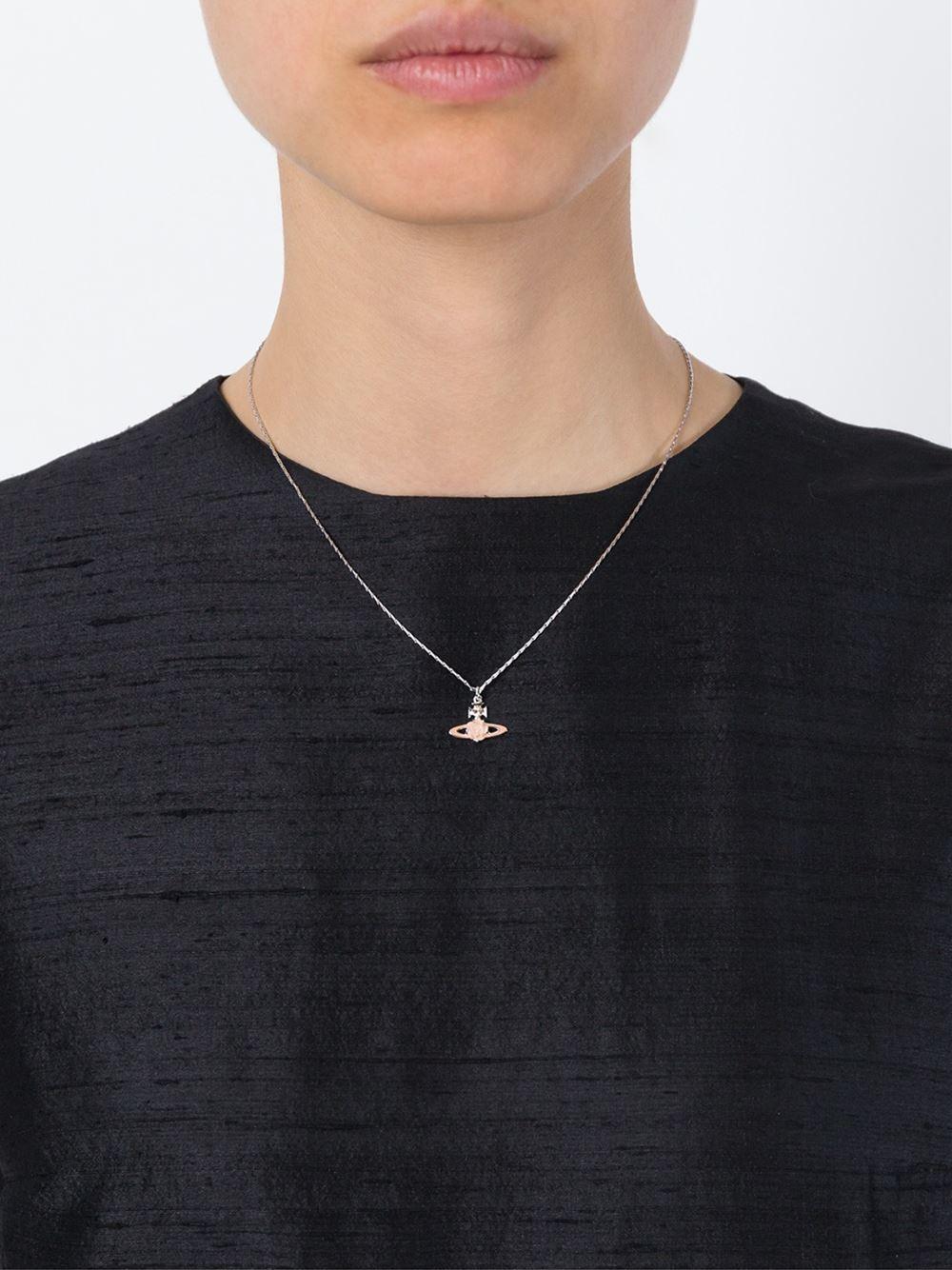 Vivienne Westwood Flower Orb Pendant Necklace In Metallic