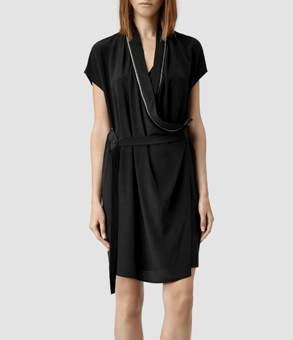Lyst - Allsaints Adria Dress In Black