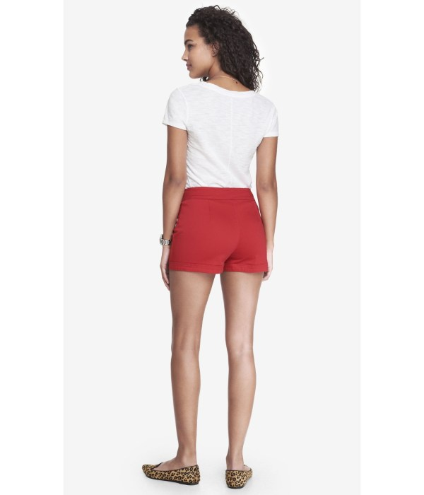 Red Sailor High Waisted Shorts