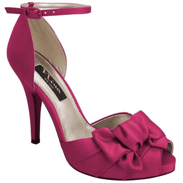 Nina Electra In Purple Fuchsia Luster Satin - Save 22