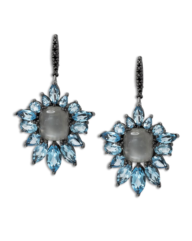 Stephen dweck Cyprus Blue Quartz Fan Drop Earrings in Blue
