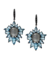 Stephen dweck Cyprus Blue Quartz Fan Drop Earrings in Blue