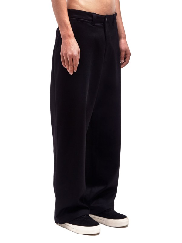 Tautz Mens Wide Wool Pants In Black Men - Lyst