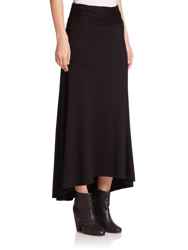 Three Dots Knit -lo Maxi Skirt In Black Lyst