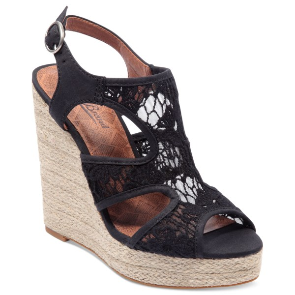 Lyst - Lucky Brand Riedel Lace Platform Wedge Sandals In