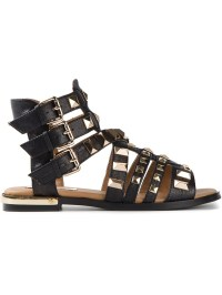 Lyst - Steve Madden Herra Flat Sandals in Black