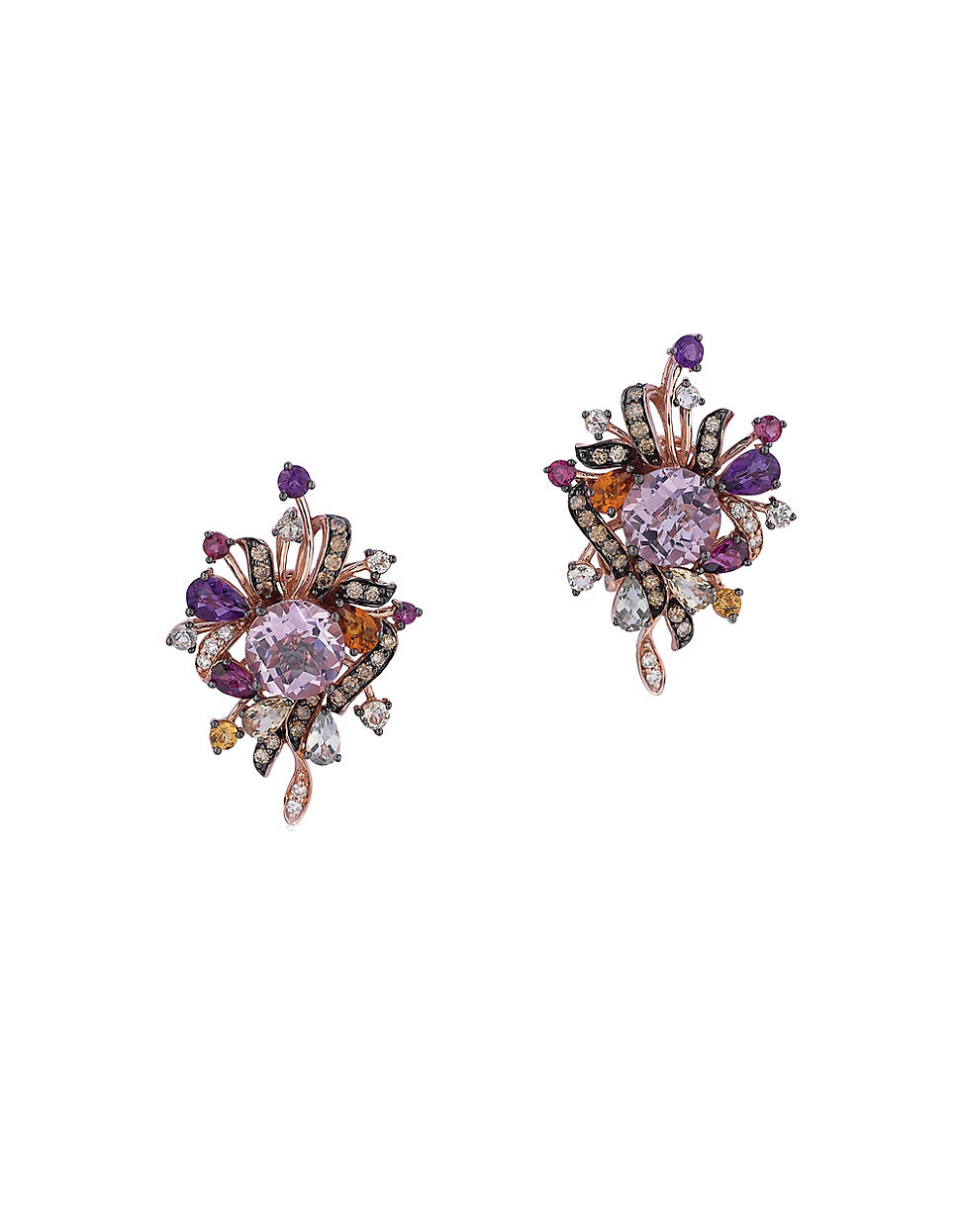 Le Vian Crazy Collection 14k Rose Gold Cluster Earrings in