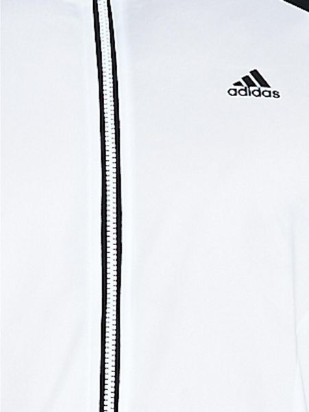 Adidas Mens Riberio Poly Tracksuit in Black for Men (white