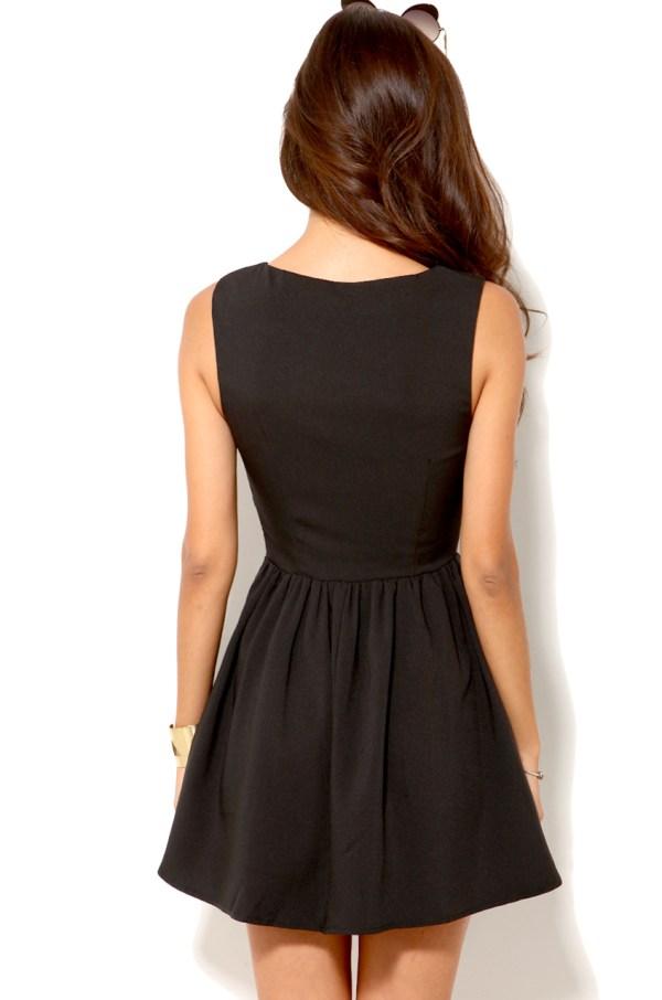Lyst - Akira Deep Cut Sleeveless Mini Dress In Black
