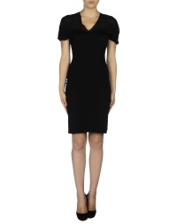 Lyst - Emporio Armani Knee-length Dress in Black