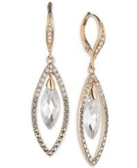 Judith jack Gold-tone Crystal Drop Earrings in Metallic | Lyst