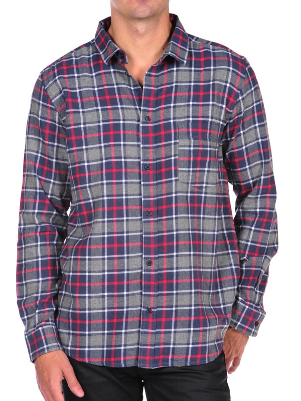 Cheap Monday Neo Check Flannel Button Shirt In Blue Men Grey Lyst
