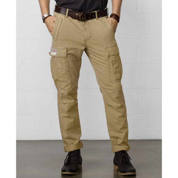 Denim & Supply Ralph Lauren Zippocket Cargo Pants In Khaki
