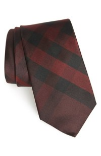 Burberry 'clinton' Check Silk Tie in Black for Men