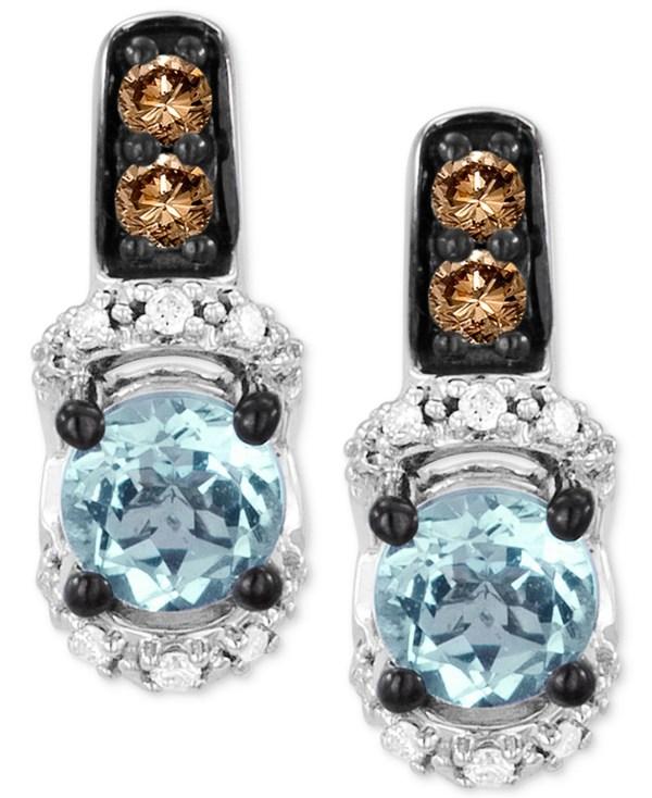 Le Vian Aquamarine 7 8 Ct. T. And Diamond 1 4 T