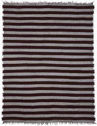 Ziggy chen Regimental Stripe Wool-cashmere Scarf in Red ...