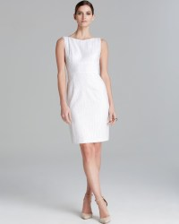 T Tahari Myra Eyelet Sheath Dress in White   Lyst