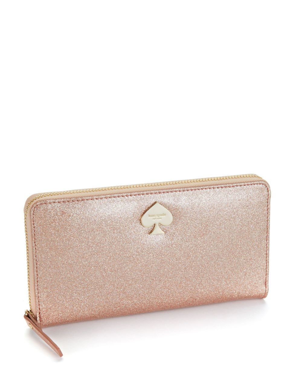 Kate Spade Lacey Glitter Bug Wallet in Metallic - Lyst
