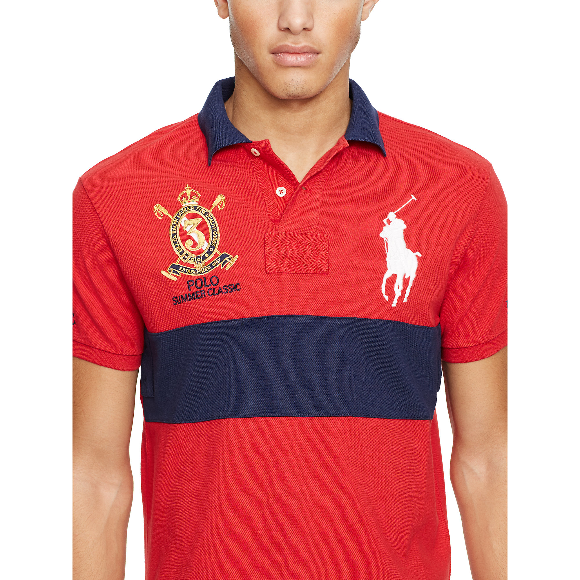 Polo Ralph Lauren Custom-fit Big Pony Polo Shirt in Blue for Men - Lyst
