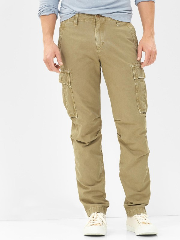 Gap Cargo Pants Slim Fit In Khaki Men Lyst