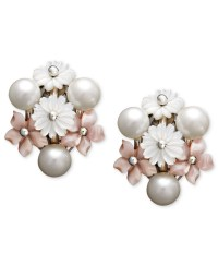 Freshwater Cultured Floral Earrings Sterling