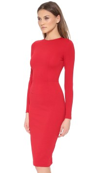 5Th & Mercer Long Sleeve Dress in Red - Lyst