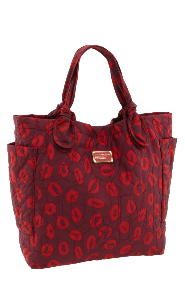 Marc Jacobs Lip Print Tote Bag In Purple Red Lyst