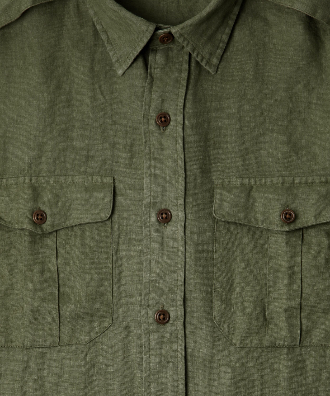 Polo ralph lauren Olive Linen Shirt in Green for Men  Lyst