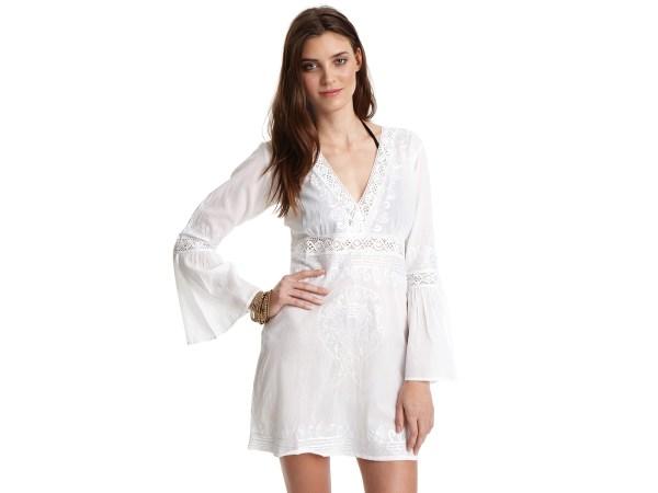 93da90fa0b ... Shanti Mirror Cotton Tunic Swim Cover. Lyst - Debbie Katz -neck Lace Tunic  Cover- In White