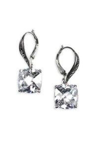 Judith Jack Square Semiprecious Drop Earrings in Silver ...