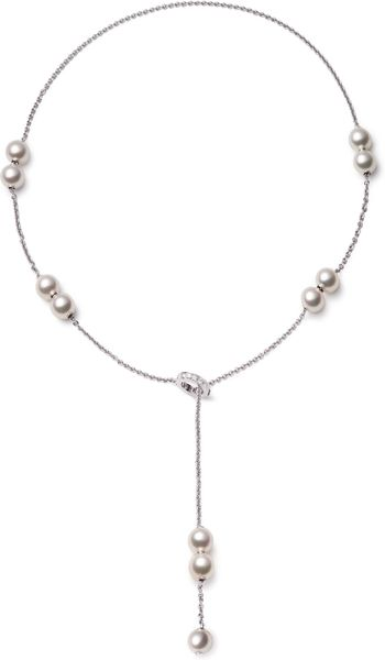 Mikimoto Pearls in Motion Akoya Cultured Pearl Necklace in