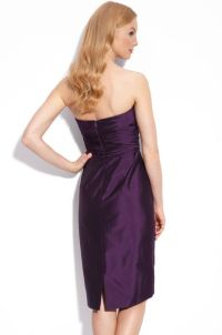 Ml Monique Lhuillier Bridesmaids Strapless Taffeta Dress ...