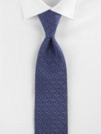 Saks fifth avenue Neat Silk Tie in Blue for Men   Lyst