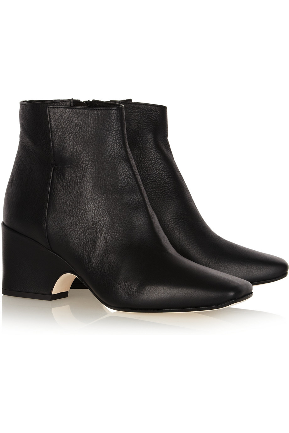 Calvin Klein Isabella Leather Ankle Boots in Black  Lyst